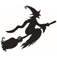 Hallowen Witch Broom Витрина Стеклянные окна Декор стены Стикер Партийный дом Домашнее украшение Творческая наклейка DIY Настенная наклейка Art Art