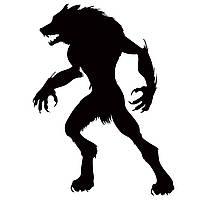Hallowen Werewolf Витрина Стеклянные окна Декоративные настенные наклейки Партийный дом Домашнее украшение Творческая наклейка DIY Настенная наст
