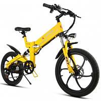 Электровелосипед KJING (желтый)
