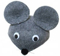 Шляпа Мышка серая, фетровая