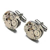 Запонки Bow Tie House элитные с механизмом часов - большие 09883