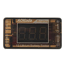 AOKoda AOK-041 1S Тестер литей батареи для проверки для JST MOLEX mCPX MCX подключенной батареи, фото 2