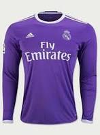 Детская футбольная форма Реал Мадрид с длинным рукавом. Сезон 2017-2018 Бейл №11, фото 1