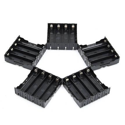 5 штук High Strength Батарея Пластик Чехол Держатель для литий-ионных батарей 4x3.7V 18650, фото 2