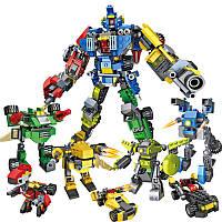 COGO 8 IN 1 25 Формы Robo Warriors Sword Shura Robots 739 Pieces Строительные блоки и кирпичи DIY Игрушки