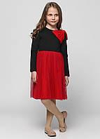 Платье, G-16034W_черный с красным