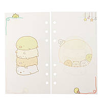 40 листов A6/A5 Цветной Спираль Ноутбук Внутренние страницы 6 Отверстия Loose Лист Binder Paper