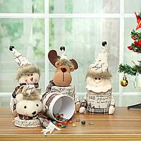 РождественскаявечеринкаДомашнееукрашениеСмазливаяльняная конфета Коробка Игрушки для детей Детский подарок