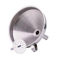 KCASA KC-FS022 5 Дюймы Воронка из нержавеющей стали Широкая жидкость для рта Масло Наполнительная воронка с фильтром