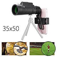 PANDA 35x50 BAK4 камера Объектив Монокулярный телескоп + держатель для телефона для сотового телефона