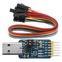 6 В 1 CP2102 USB To TTL 485 232 Конвертер 3.3V / 5V Совместимый шести многофункциональный последовательный модуль