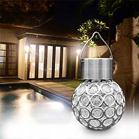 Солнечная Висячие LED Пластиковый шар Шарик Красочный / Чистый Белый На открытом воздухе Сад Двор Путь Ландшафтный декор