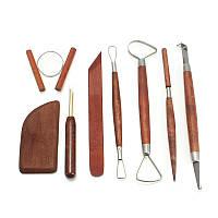 8Pcs Керамика Инструмент Набор Керамика для керамики Литьевая древесина Инструмент Set