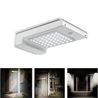 2W Солнечная Powered 49 LED Motion Датчик Настенный светильник Водонепроницаемы На открытом воздухе Сад Безопасность Лампа