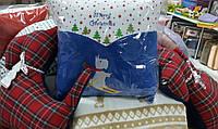 Декоративная подушка Скотти на лыжах (43*43см)