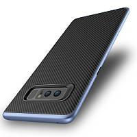 УглеродныйволокнистыйтекстурныйпротивоударныйгибридныйПК TPU Чехол для Samsung GalaxyNote8