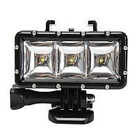Под водой Водонепроницаемы Дайвинг Spot Photography Light LED Гора для спорта Action камера