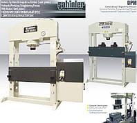 Гидравлические правильные прессы SAHINLER для мастерских 30-150 тонн серий и DPM с электро двигателем