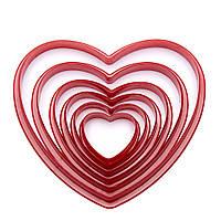 6pcs/set Сердце Фасонный пластичный пирог печенья печенья печенья марки Sugar Craft торт украшения