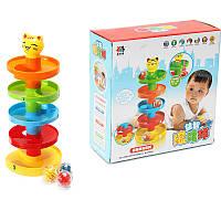 Стекловые башни Tower Ramp Billowed Roll Ball Bell Toy Set Детские развивающие развивающие игрушки