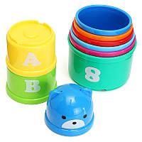 Детские забавные кучки Кубок Детские игрушки для младенцев Штабелирование Нагромождение Башни Кол-во Кол-во Кол-во Номер Письмо