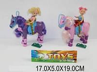 Кукла с лошадкой, 2 вида, в п/э 17х5х19 /192-2/