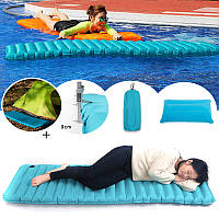 IPRee185CMРучноедавлениенадувнойпортативный спящий Кемпинг Походная коврик для коврика с подушкой