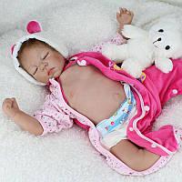 """22"""" Handcraft Cute Реалистичный новорожденный новорожденный Baby Happy Boy Dolls Силиконовый Toys"""