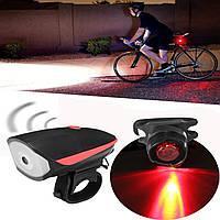XANESВодонепроницаемыСуперяркийUSBаккумуляторная LED Bike Light Headlight с рогом и задним фонарем