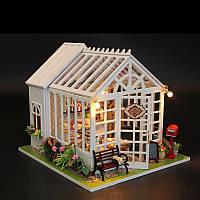 Hoomeda M028 Cake Shop House DIY Кукольный дом с музыкальным освещением Коллекция миниатюрных моделей