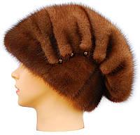 Норковая шапка женская,Ника (орех)