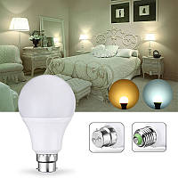 E27 B22 5W 10LEDs Теплая белая Чистая лампа управления светом без мерцания Энергосбережение AC85-265V