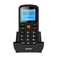 UNIWA V708 1.77 дюймов 800mAh Dual SIM Dual Standby Torch One Key Мобильный телефон