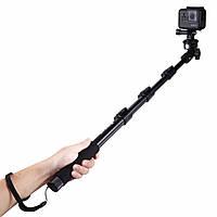PULUZ PU54B Расширяемая регулируемая ручная тележка Палка Monopod для Action Sportscamera Phone
