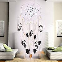 Dreamer White Retro Handmade Индийская мечта Catcher Племенная стена Висячие декоры Орнаменты