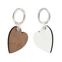 10x Сердце Форма Blank MDF Board Key Ring Термопередающая печать Ключи для термоусадочной машины