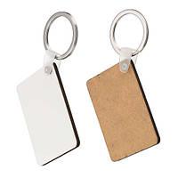 10x Rectangle Blank MDF Board Key Ring Термопередающая печать Ключи для термопечати