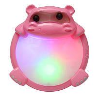 2209-10 Дети озадачены Hippo Music Light Drum Раннее образование Игрушка Музыкальный звук Beat Fun Gift