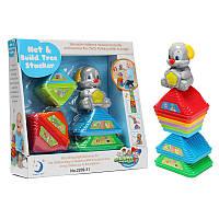 Kids Colorful Stacking Собака Pile Up Tower Toy Обучающие чашки игрушек Подсчет очков Кубки Блоки