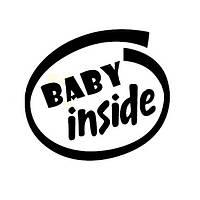 11x12cm Baby Inside Отражающий На открытом воздухе Энтузиасты Авто Наклейки Авто Грузовой автомобиль мотоцикл Дека