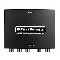 SD-020 1080P HD для RGB-компонента 5RCA YPbPr Video R / L Audio Converter Adapter TV PC