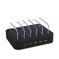 Excellway® 1A / 2.4A 5 портов USB-зарядное устройство Многофункциональное зарядное устройство для док-станции