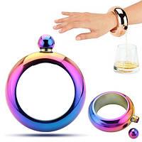 Винная бутылка Винный горшок Bangle Flagon Bracelet Hip Flask Stainless Mirror Whisky Drinkware Воронка