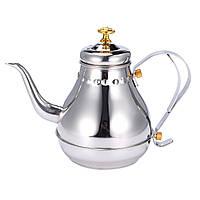 Silver 1.2L Емкость из нержавеющей стали Кофейные капельницы Чай Фильтрующий горшок Чайhouse