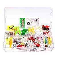 ZANLURE Вспышка 100PCS Рыбалка Приманки для приманки с пластиковой тарелкой Коробка Рыбалка Снасти Набор