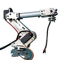 KDX DIY 6DOF Алюминиевый робот-манипулятор 6 Ось вращения Механический Ручка робота Набор с 6 PCS Сервопривод