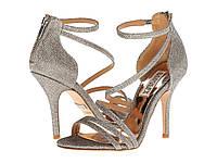 Туфли на каблуке (Оригинал) Badgley Mischka Landmark Platino Diamond Drill Fabric