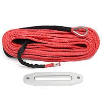 12MMX30M 12000lbs Синтетический кабель Веревка для лебедки с красной крышкой с Hawse Fairlead