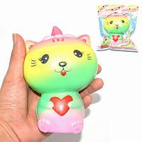 Kiibru Радужный хлюпик кота 13.5cm Мягкая медленно растущая оригинальная упаковка подарок и игрушка для украшения