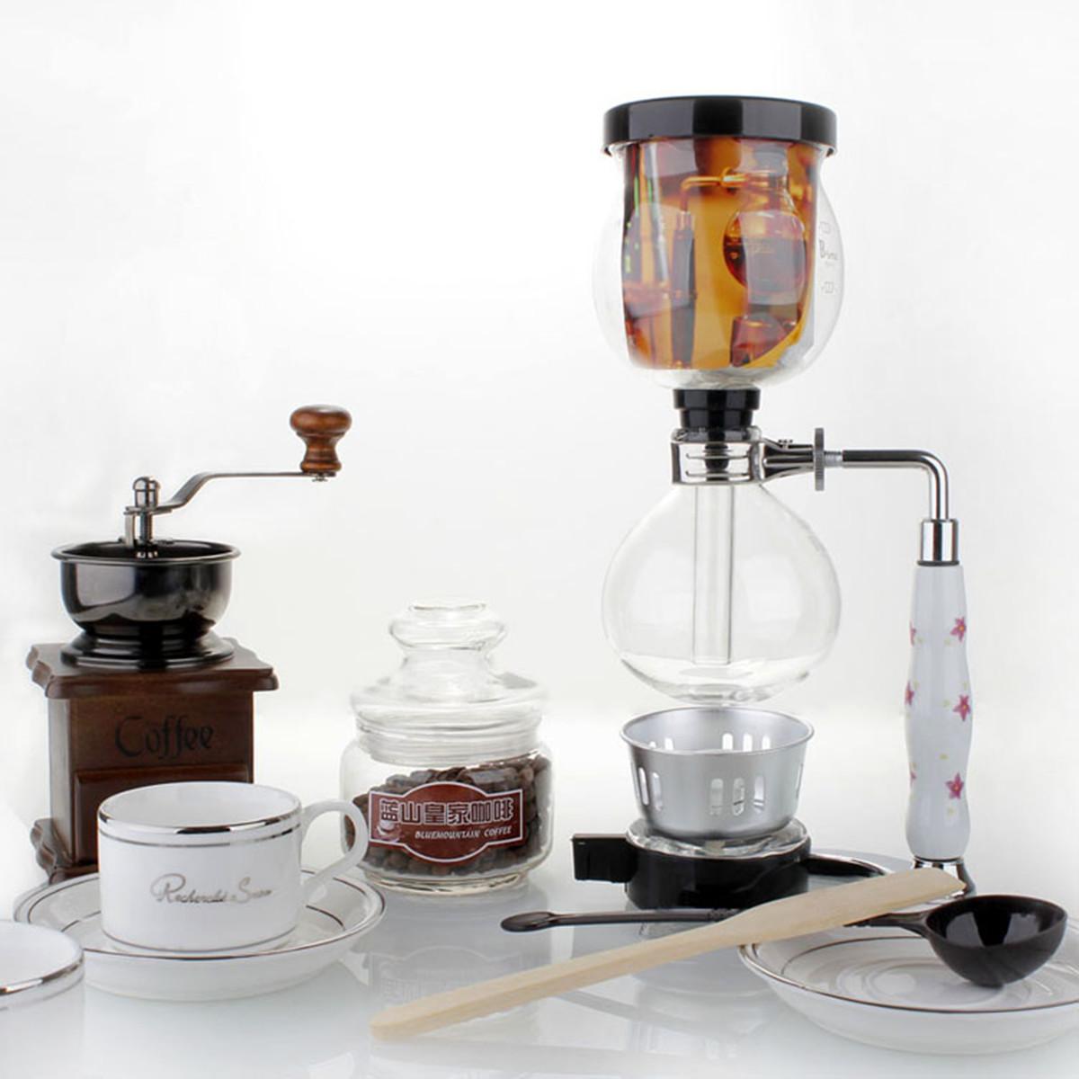 3 чашки Стеклянный сифон Кофеварка Машина Brewer Siphon Вакуумный фильтр с фильтром - ➊TopShop ➠ Товары из Китая с бесплатной доставкой в Украину! в Днепре